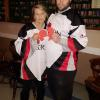 "HUMBOLDT JERSEY Day 12 April 2018  ​  In memory of the Broncos Hockey team this day has been named in memory of the 16 who died in the bus accident.  ​  Legion Manager Ann DeWolfe  and Legion ""Do-It-All"" guy Brad Ubdegrove both wearing their hockey jerseys today 12 April 2018   ​"