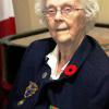1st poppy recipient for RCL Br. 92 in Gananoque, 97 year old WWII War Vet Constance Budd.  Connie resides at Fox Run in Gananoque.